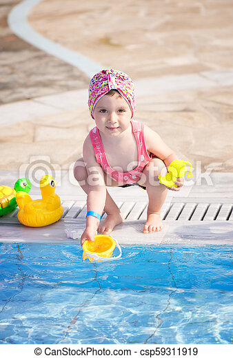 Girl playing with toys - csp59311919