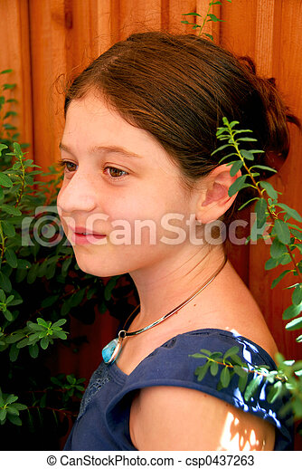 Girl portrait - csp0437263