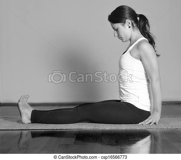 girl pose yoga dandasana marichyasana
