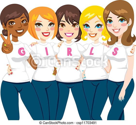 Girl Power Friends - csp11703491