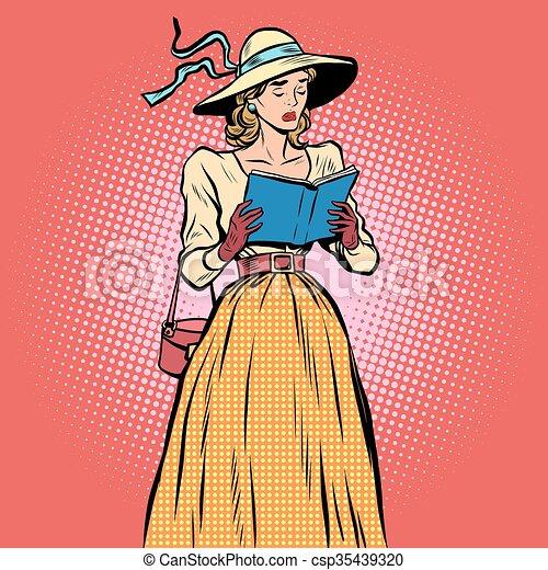 Girl reading a book - csp35439320