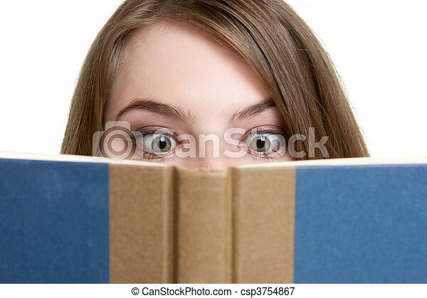 Girl Reading Book - csp3754867