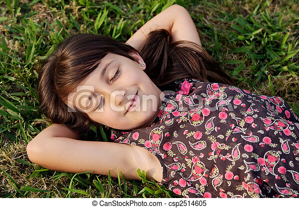 Girl relaxed - csp2514605