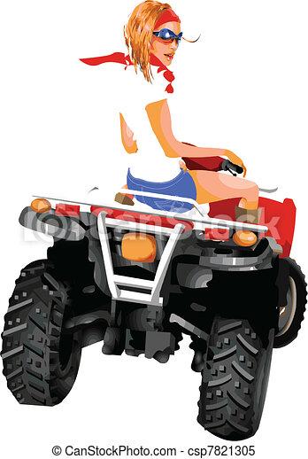 Girl riding quad - csp7821305