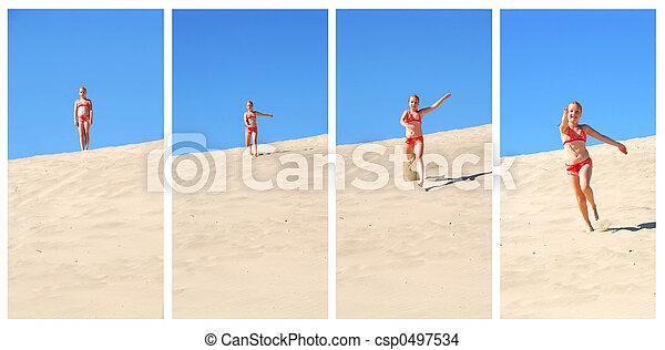 Girl running - csp0497534