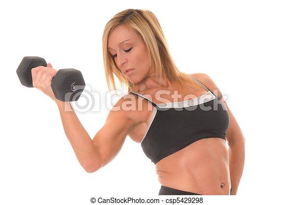 girl, santé, fitness - csp5429298