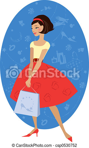 Girl shopping - csp0530752