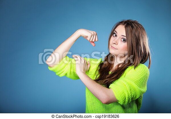 Girls showing muscles Young