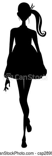 girl silhouette - csp2899090