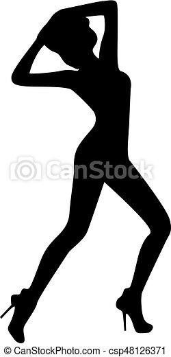 girl silhouette - csp48126371