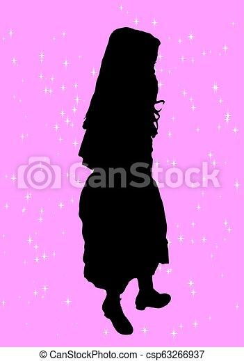 girl, silhouette - csp63266937