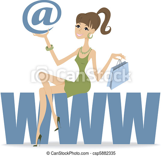 girl sitting on the large letters - csp5882335