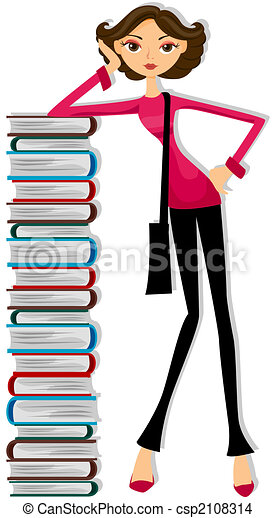girl student drawing search clip art illustrations and eps vector rh canstockphoto com boy and girl student clipart college student girl clipart