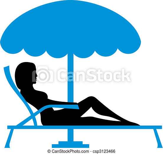 girl sunbathing vector silhouette of a young woman relaxing clip rh canstockphoto com  sunbathing cartoon clipart