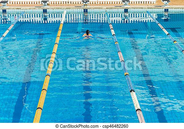 Girl Swimming Gala Pool