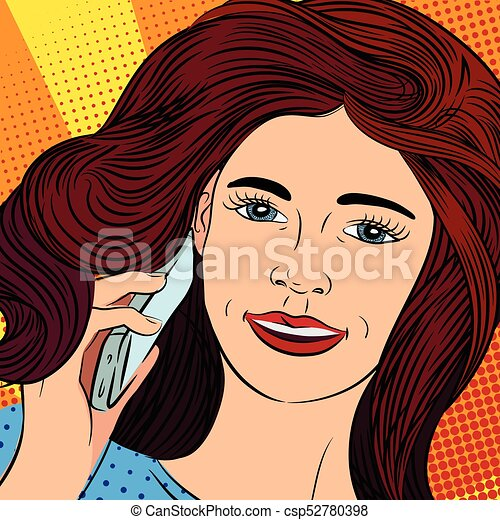 girl talking on the phone - csp52780398
