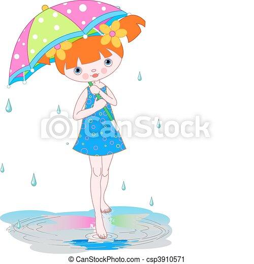 Hot Summer Rain Clip Art
