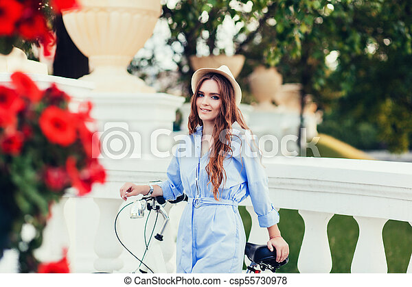 girl, vélo - csp55730978
