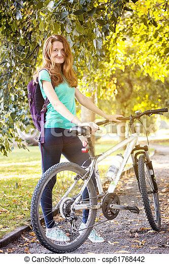 girl, vélo - csp61768442