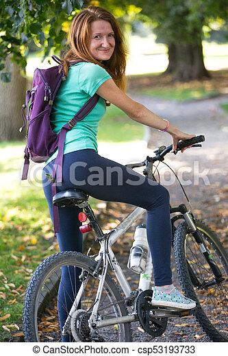 girl, vélo - csp53193733