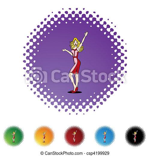 Girl Waving - csp4199929