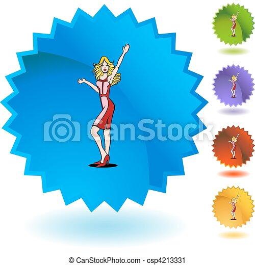 Girl Waving - csp4213331