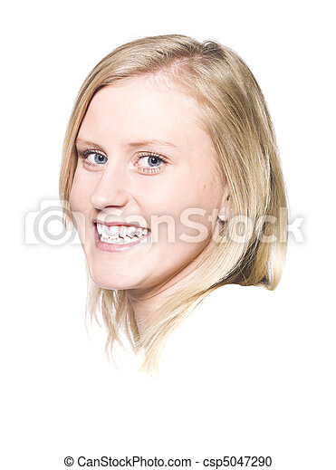 Girl with a Toothy Smile - csp5047290