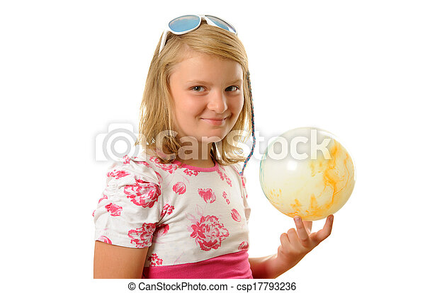 Girl with ball - csp17793236