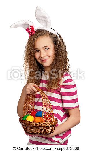 Girl with bunny ears - csp8873869