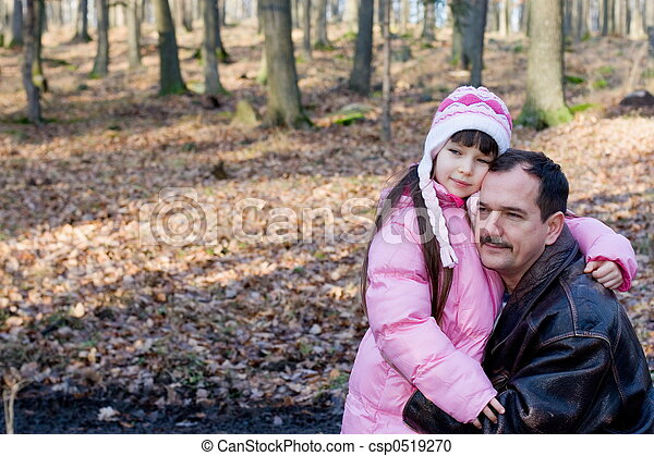 girl with father - csp0519270