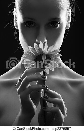 Girl with flower - csp2375857