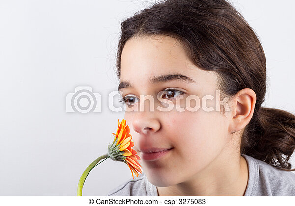 girl with flower - csp13275083