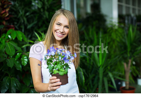Girl with flower - csp17612964