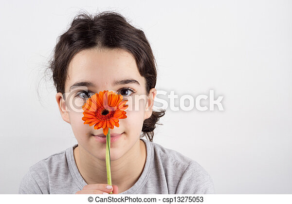 girl with flower - csp13275053