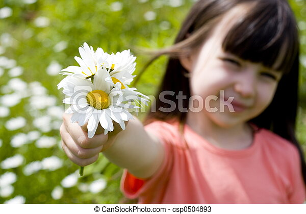 girl with flower - csp0504893