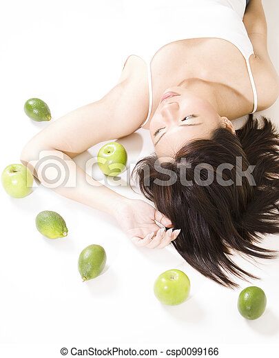 Girl With Fruit 6 - csp0099166
