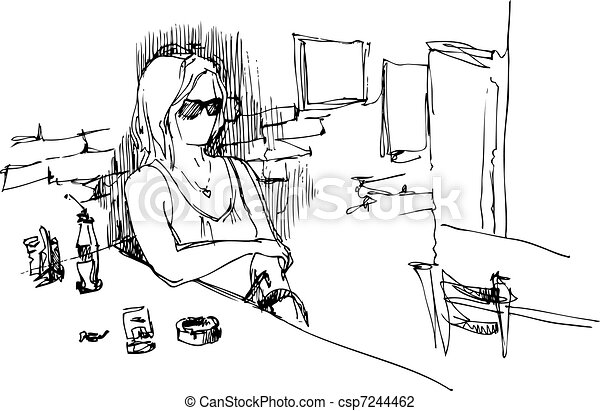 girl with glasses - csp7244462
