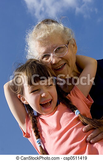 Girl with grandma - csp0511419