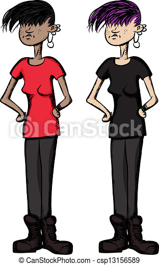 Girl with Hands on Hips - csp13156589