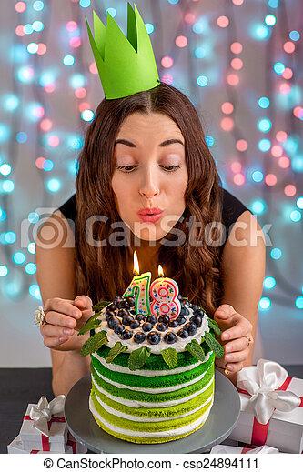 Prime Girl With Happy Birthday Cake Eighteen Girl With Happy Birthday Funny Birthday Cards Online Unhofree Goldxyz