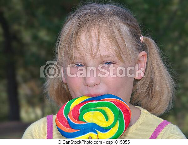 girl with lollipop - csp1015355
