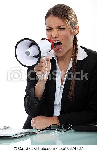 Girl with megaphone - csp10374787