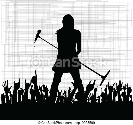 Girl With Microphone - csp19035599