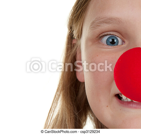 girl with red nose - csp3129234