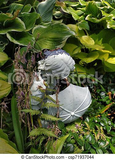 Girl with Umbrella - csp71937044