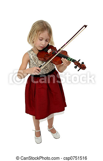 Girl with Violin - csp0751516