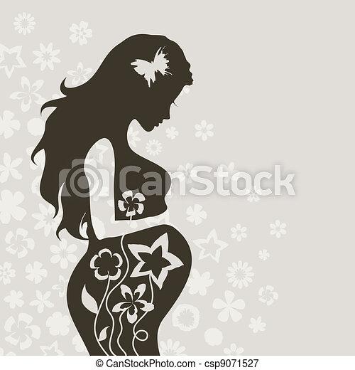 girl4, pregnant - csp9071527