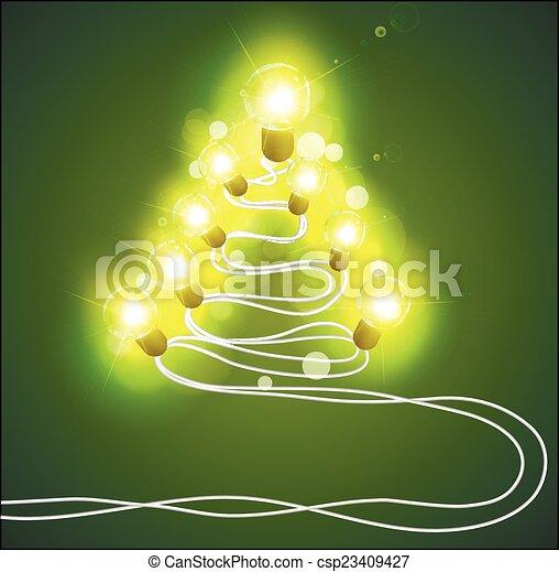 girlanden, baum, weihnachten - csp23409427