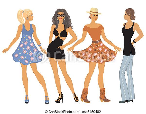 03ee2ecda82 girls in summer clothes - csp6450482