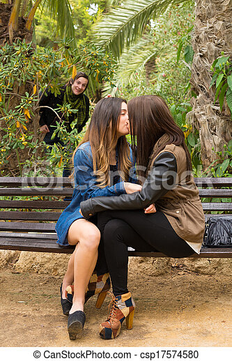 Lesbian girls kissing